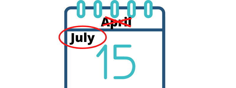 calendar showing July 15
