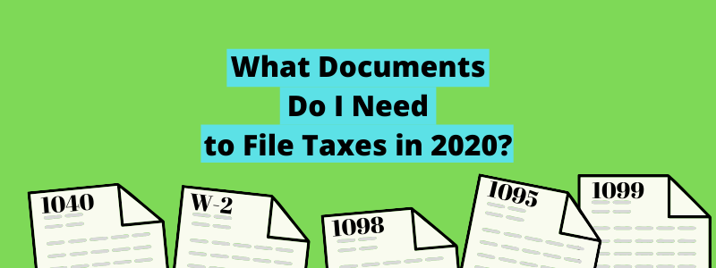 tax documents underneath title