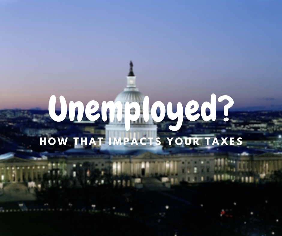 image of capital building with unemployed text